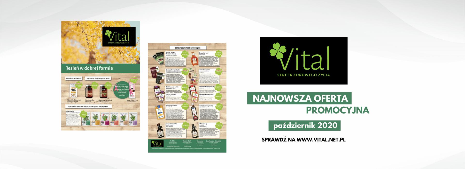 Październikowa gazetka promocyjna Vital