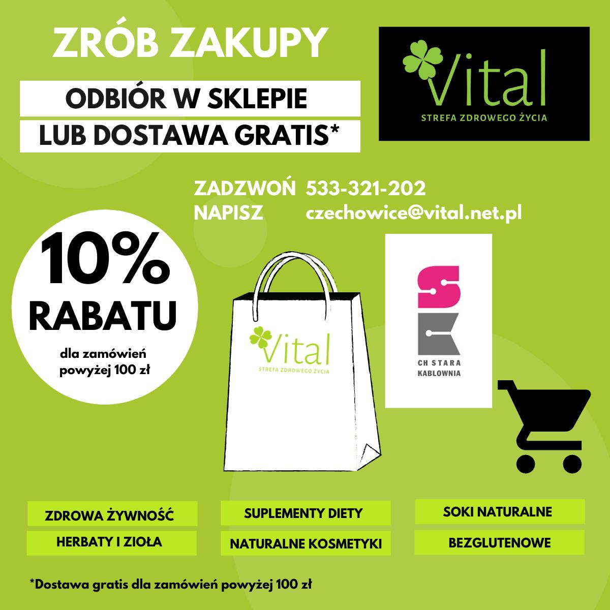 Vital – odbiór w sklepie lub dostawa